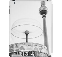 Urania world clock and Berlin TV Tower iPad Case/Skin