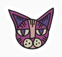 Cat Head Illustration - Sticker 2 by serkorkin