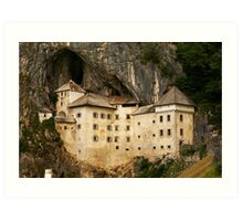 Predjama Castle, a Renaissance castle built within a cave mouth in south-central Slovenia Art Print