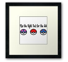 Pika the Right Tool for the Job Framed Print