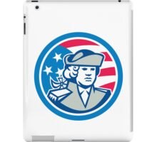 American Patriot Bust Stars and Stripes Flag iPad Case/Skin