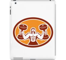 Man Lifting Dumbbell Weight Physical Fitness Retro iPad Case/Skin