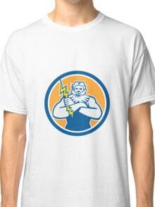 Zeus Greek God Arms Cross Thunderbolt Circle Retro Classic T-Shirt