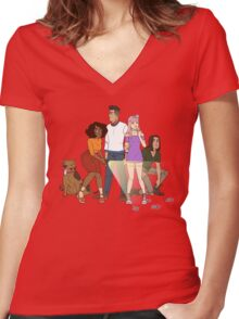 Where Are You? Women's Fitted V-Neck T-Shirt