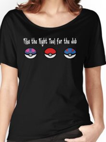 Pika the Right Tool for the Job (White) Women's Relaxed Fit T-Shirt