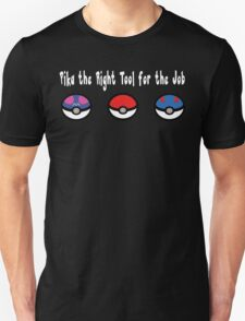 Pika the Right Tool for the Job (White) Unisex T-Shirt