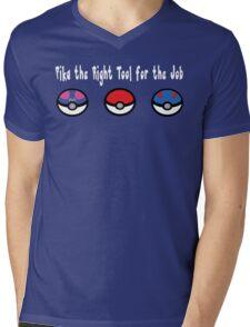 Pika the Right Tool for the Job (White) Mens V-Neck T-Shirt