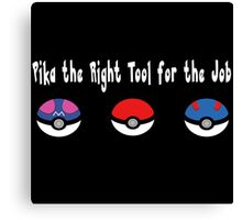 Pika the Right Tool for the Job (White) Canvas Print