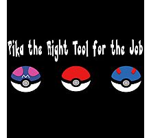 Pika the Right Tool for the Job (White) Photographic Print