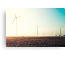field with wind power Canvas Print