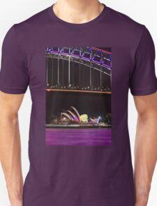 Purple Harbour, coloured sails Unisex T-Shirt