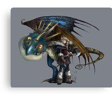 Astrid and Stormfly Canvas Print
