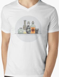 Things and bottles Mens V-Neck T-Shirt