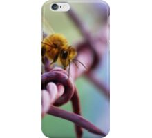 Barb Wire Bee iPhone Case/Skin