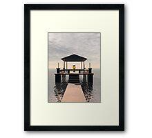 Waterside Gazebo Framed Print