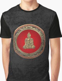 Treasure Trove - Gold Buddha on Black Velvet  Graphic T-Shirt