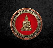 Treasure Trove - Gold Buddha on Black Velvet  by Serge Averbukh
