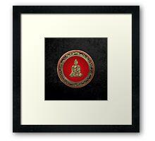 Treasure Trove - Gold Buddha on Black Velvet  Framed Print