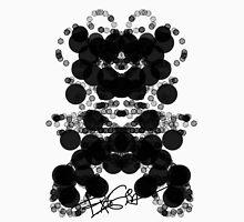 Black Bubbles Dog by RegiaArt Unisex T-Shirt