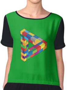 Play with Me: Lego Penrose Toy Triangle Impossible Object Illusion Chiffon Top