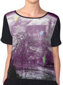 moon purple Chiffon Top