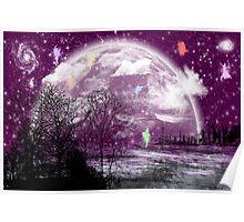 moon purple Poster