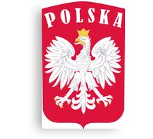 POLSKA EAGLE SHIELD  Canvas Print