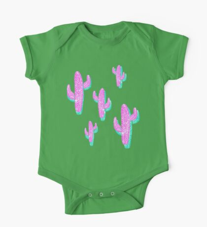 Linocut Cacti Blink One Piece - Short Sleeve