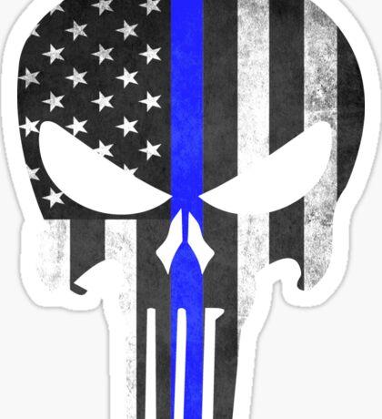 Punisher Thin Blue line Sticker