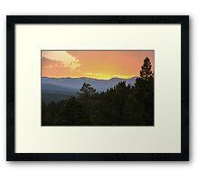 Orange Sunset Framed Print