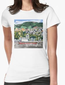 Wellington Harbour by Ira Mitchell-Kirk Womens Fitted T-Shirt