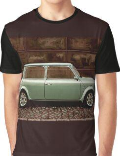 Austin Mini Cooper Mixed Media Graphic T-Shirt