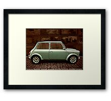 Austin Mini Cooper Mixed Media Framed Print
