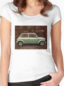 Austin Mini Cooper Mixed Media Women's Fitted Scoop T-Shirt