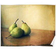 Pears (still life) Poster