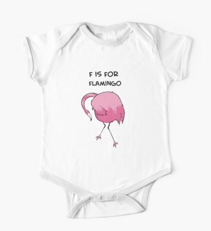 F is for Flamingo One Piece - Short Sleeve