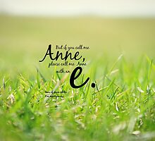Anne with an E by Kimberose