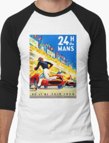 """MANS"" 24 Hour Grand Prix Auto Race Men's Baseball ¾ T-Shirt"