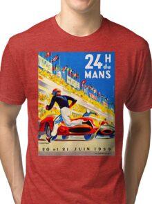"""""""MANS"""" 24 Hour Grand Prix Auto Race Tri-blend T-Shirt"""