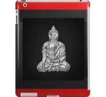 Sacred Symbols - Silver Buddha on Red and Black iPad Case/Skin