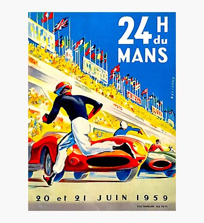 """MANS"" 24 Hour Grand Prix Auto Race Photographic Print"