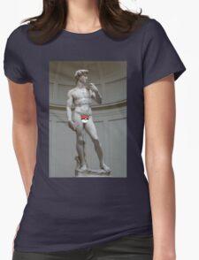 Poké ball David Womens Fitted T-Shirt