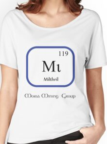 Mithril Chemical Symbol  Women's Relaxed Fit T-Shirt