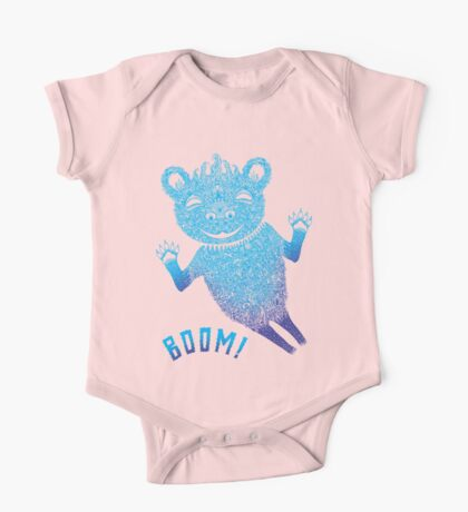 Turquoise Bear Goes Boom Kids Clothes
