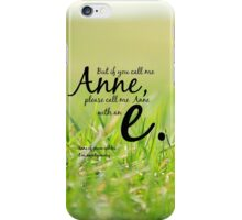 Anne with an E iPhone Case/Skin