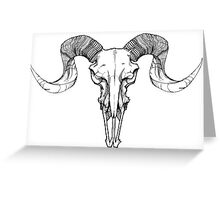 RAMS SKULL Greeting Card
