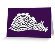 Sea Hare Tribal Design - White Greeting Card