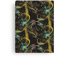 Golden Butterflies Canvas Print