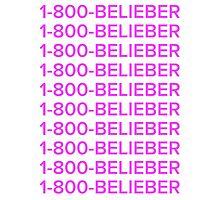 Justin bieber 1-800-BELIEBER  Photographic Print