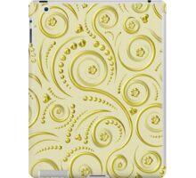 Gold swirls iPad Case/Skin